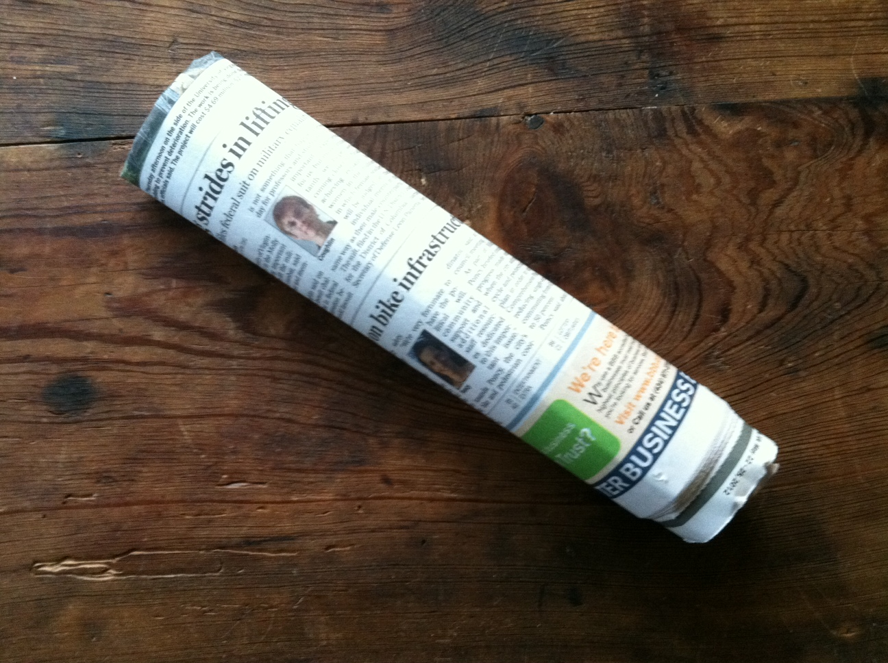 How to fold a newspaper, by Herm – Marissa Hermanson