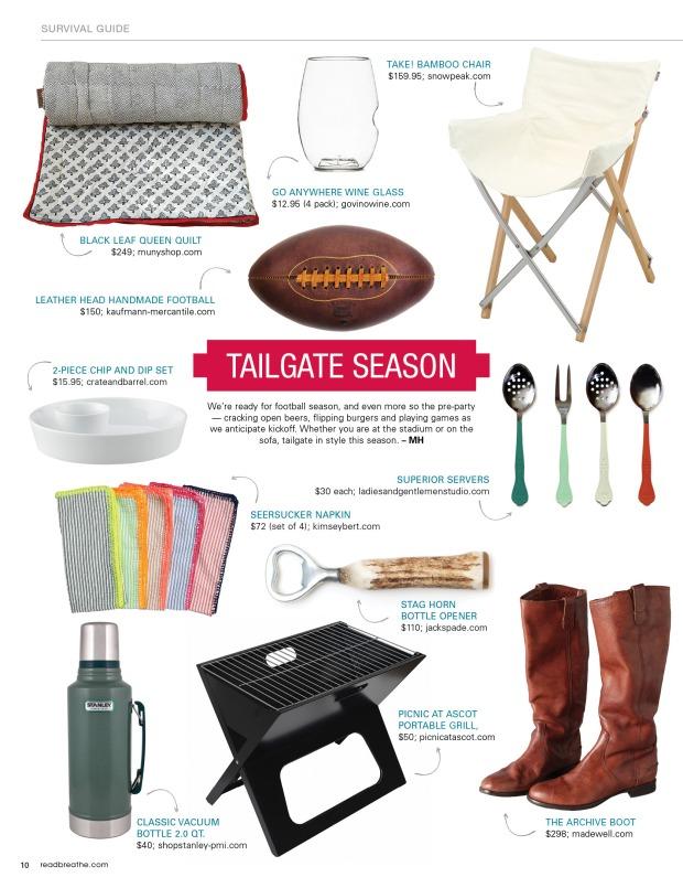 Football Tailgate Style Guide – Marissa Hermanson
