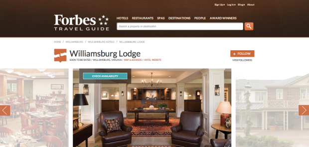 Forbes Travel Guide Williamsburg Lodge