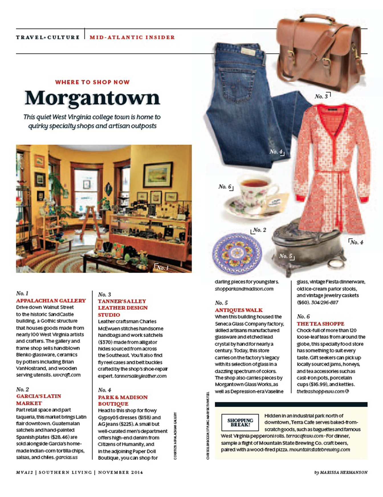 Wtsn morgantown marissa hermanson for Southern living change of address