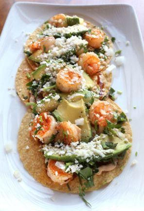 shrimp toastadas