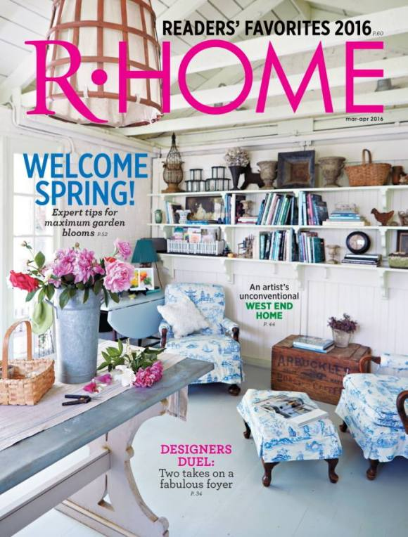 RHome Magazine March:April 2016 cover